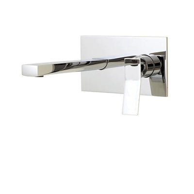 Aquabrass ABFB19029PC 19029 Chicane Wallmount Lav Faucet Polished Chrome