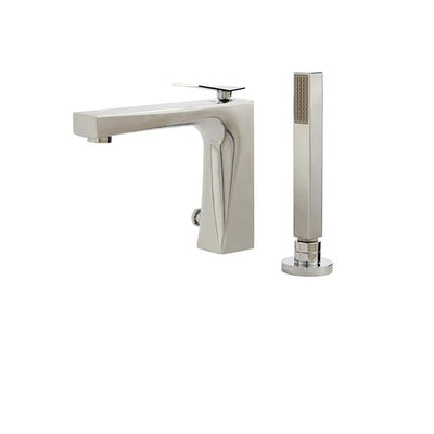 Aquabrass ABFB19074PC 19074 Chicane Deckmount Tub Filler W/Handshower Polished Chrome