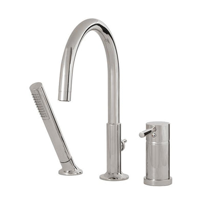 Aquabrass ABFB27413PC 27413 Geo 3 Pce Tub Filler W/Mixing Valve &Diverter Spout Polished Chrome
