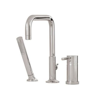 Aquabrass ABFB27513BN 27513 Zara 3 Pce Deckmount Tub Filler Brushed Nickel