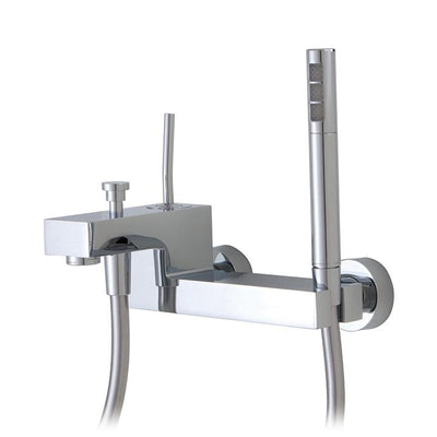 Aquabrass ABFB28004PC 28004 Hey Joe Wallmount Tub Filler W/Handshower Polished Chrome