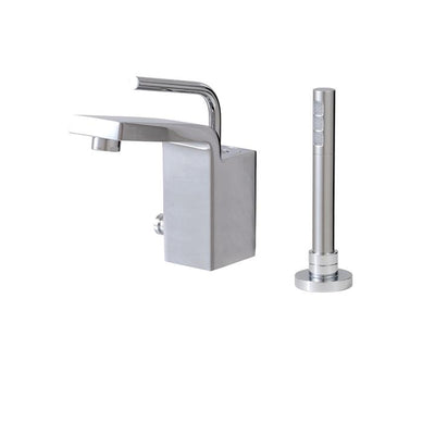 Aquabrass ABFB28074BN 28074 Hey Joe Deckmount Tub Filler W/Handshower Brushed Nickel