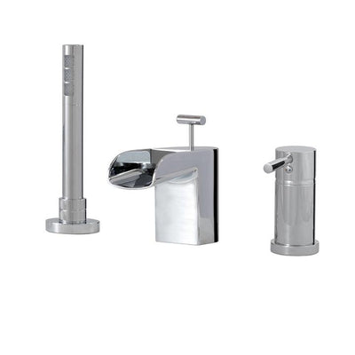Aquabrass ABFB32013BN Love Me 3 Pce Tub Filler Brushed Nickel