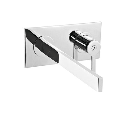Aquabrass ABFB51029BN 51029 Time Wallmount Lav Faucet Brushed Nickel