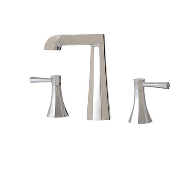 Aquabrass ABFB53016PC 53016 Otto Widespread Lav Faucet Polished Chrome