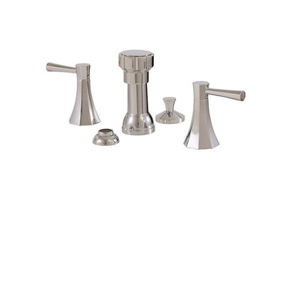 Aquabrass ABFB53026BN 53026 Otto 4 Hole Bidet Set Brushed Nickel