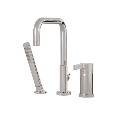 Aquabrass ABFB68013BN 68013 Blade 3 Pce Tub Filler - Sq Spout Brushed Nickel