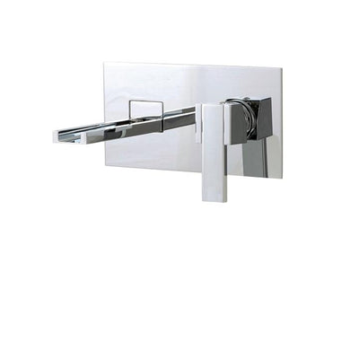 Aquabrass ABFB77329BN 77329 Streem Wallmount Lav Faucet Brushed Nickel