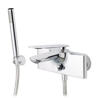 Aquabrass ABFB91004PC 91004 Apex Wallmount Tub Filler W/Hds Polished Chrome