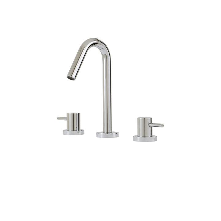 Aquabrass ABFBX7510BN X7510 Xround Short Widespread Lav Faucet Brushed Nickel