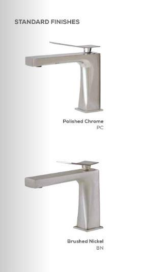 Aquabrass ABFBX7712BN X7712 Xrectangular 2Pce Lav Faucet With Side Joystick Brushed Nickel