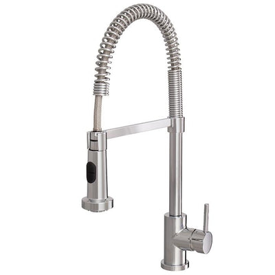 Aquabrass ABFK30045BN 30045 30045 Wizard Pull-Down Spray Kitchen Faucet Brushed Nickel