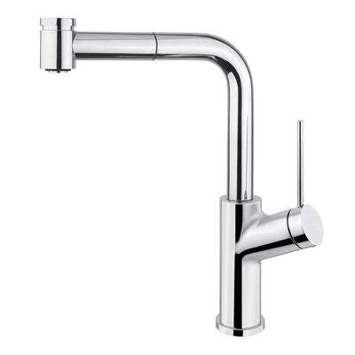Aquabrass ABFK6145NPC 6145N Ginger Pull-Out Spray Kitchen Faucet Polished Chrome