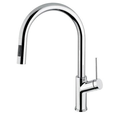 Aquabrass ABFK6245NC 6245N Ginger Pull-Down Spray Kitchen Fau Polished Chrome