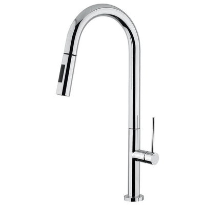 Aquabrass ABFK6645NPC 6645N 6645N Spaghetti Pull-Down Spray Kitchen Faucet Polished Chrome