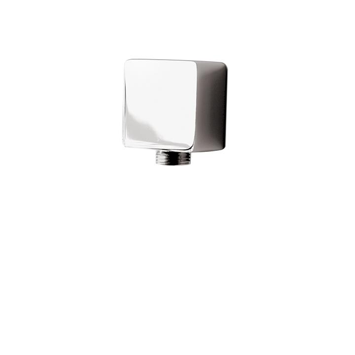 "Aquabrass ABSC01401BN 1401 Square Inline Waterway 1/2"" Fxm Brushed Nickel"