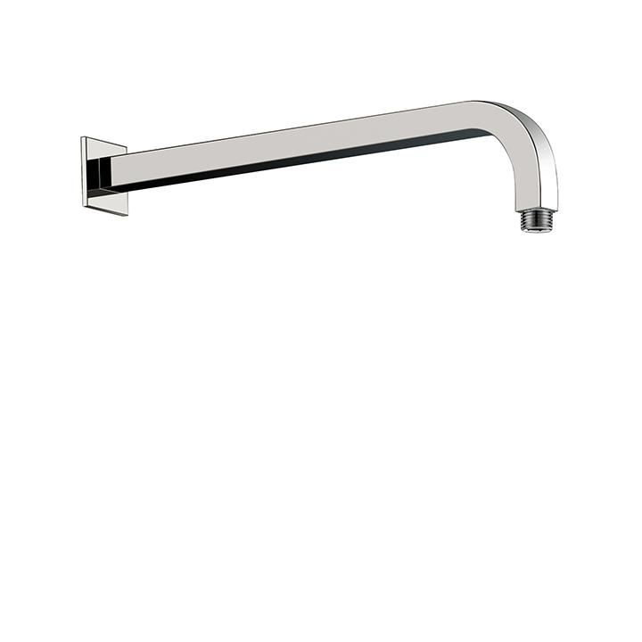 "Aquabrass ABSC08202PC 8202 Square Shower Arm & Flange 16"" Polished Chrome"