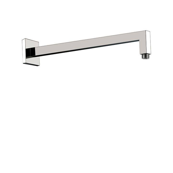 "Aquabrass ABSC08205BN 8205 Square Shower Arm & Flange 16"" Brushed Nickel"