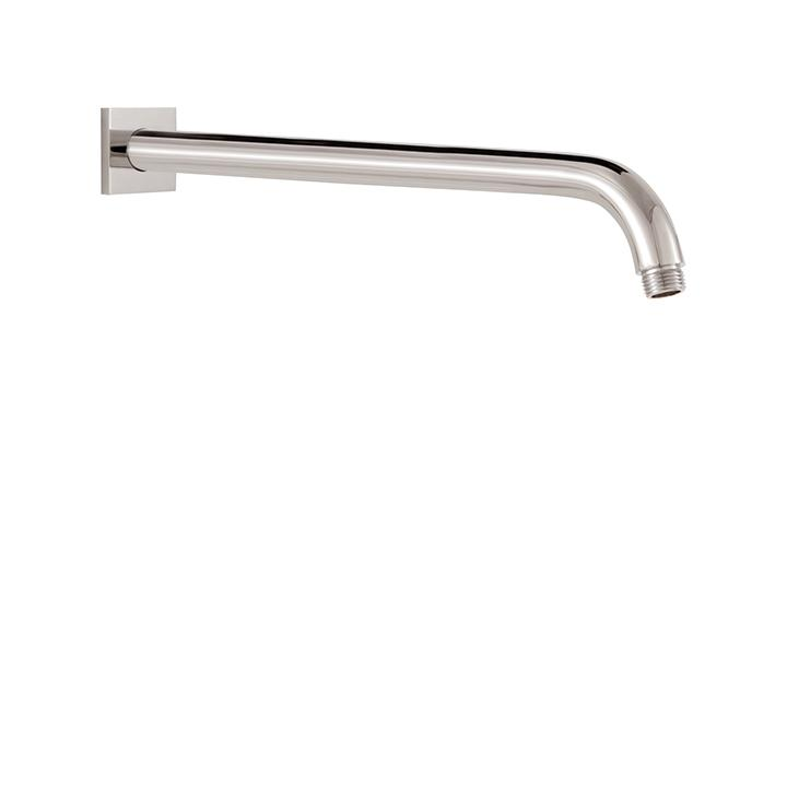 "Aquabrass ABSC08206BN 8206 Round Shower Arm & Square Flange 16"" Brushed Nickel"