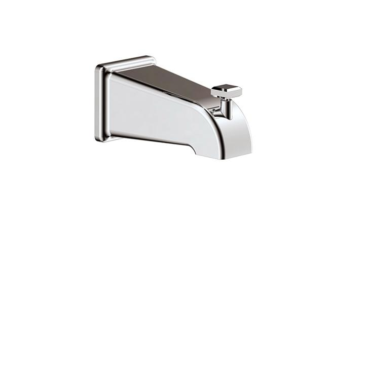 Aquabrass ABSC10232PC 10232 Tub Spout Square With Diverter Polished Chrome