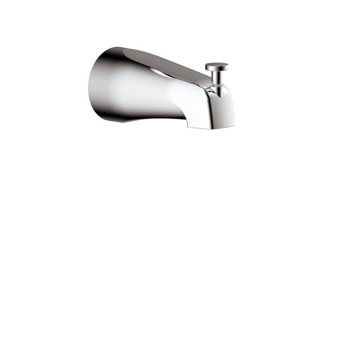 Aquabrass ABSC10332BN 10332 Tub Spout Round With Diverter Brushed Nickel