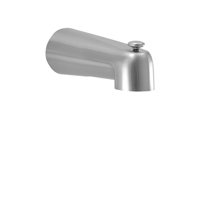 Aquabrass ABSC11812BN 11812 Tub Spout With Diverter (Slip On) Brushed Nickel