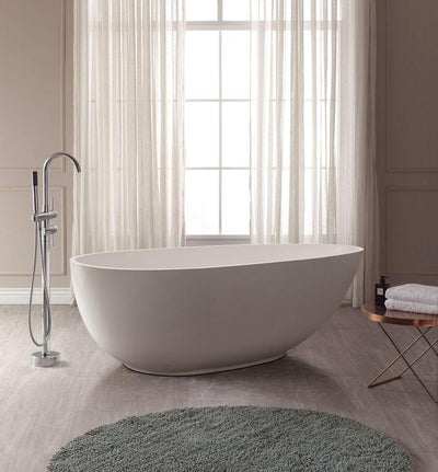 "Avanity ABT1512-GL 67"" Free Standing Acrylic Soaking Tub w/ Center Drain, Pop-Up Drain Assembly, and Overflow"