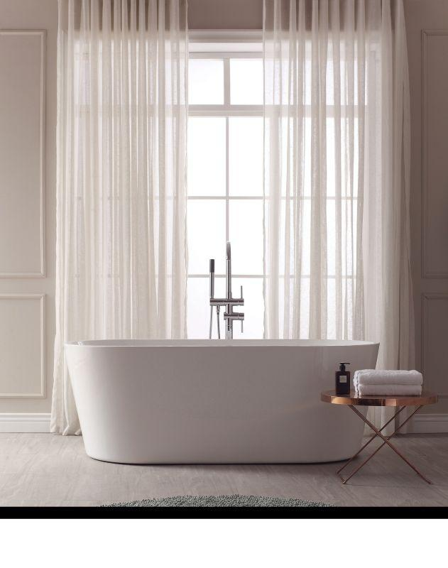 "Avanity ABT1524-GL 67"" Free Standing Acrylic Soaking Tub w/ Center Drain, Pop-Up Drain Assembly, and Overflow"