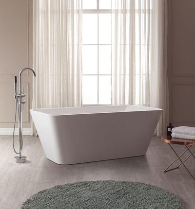 "Avanity ABT1530-GL 63"" Free Standing Acrylic Soaking Tub w/ Center Drain, Pop-Up Drain Assembly, and Overflow"