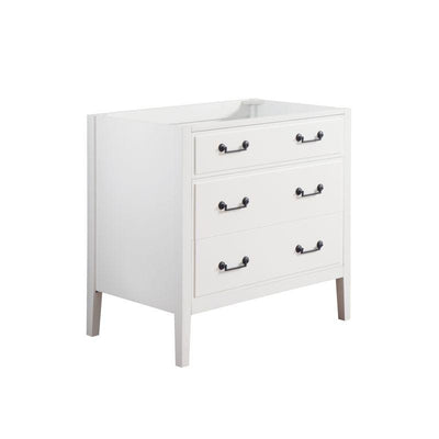 "Avanity DELANO-V36-WT Delano 36"" Vanity Only in White finish"