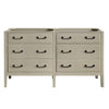 "Avanity DELANO-V60-TG Delano 60"" Double Sink Vanity Only in Taupe Glaze finish"