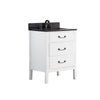 "Avanity DELANO-VS24-WT-A Delano 25"" Vanity Combo in White finish w/ Black Granite Top"