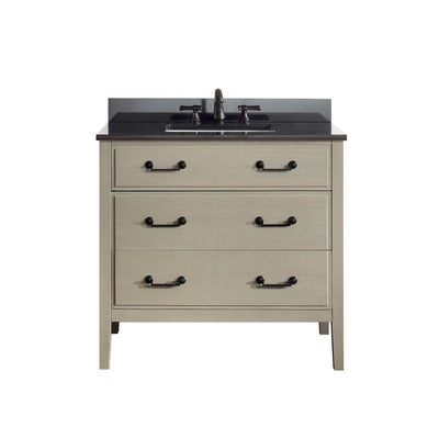 "Avanity DELANO-VS36-TG-A Delano 37"" Vanity Combo in Taupe Glaze finish w/ Black Granite Top"
