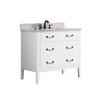 "Avanity DELANO-VS36-WT-C Delano 37"" Vanity Combo in White finish w/ Carrera White Top"