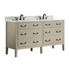 "Avanity DELANO-VS60-TG-C Delano 61"" Double Sink Vanity Combo in Taupe Glaze finish w/ Carrera White Top"