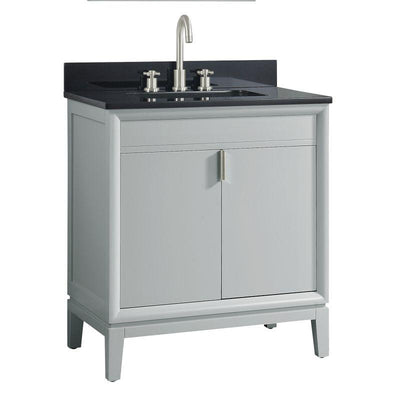 "Avanity EMMA-VS31-DG-A Emma 31"" Vanity Combo in Dove Gray with Black Granite Top"
