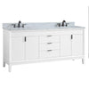 "Avanity EMMA-VS73-WT-C Emma 73"" Vanity Combo in White with Carrara White Marble Top"