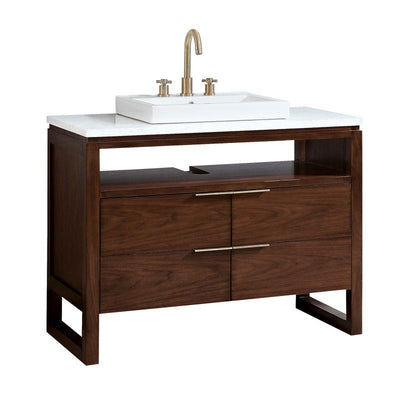 "Avanity GISELLE-VS43-NW Giselle 43"" Vanity in Natural Walnut with Carrara White Marble Top"