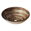 Avanity GVE420CS Tempered Glass Vessel - Copper Swirl