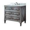 "Avanity KELLY-VS36-GB-B Kelly 36"" vanity w/ Galala Beige marble top in Grayish Blue finish"