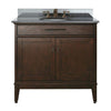"Avanity MADISON-VS36-TO-A Madison 36"" Vanity w/ Black Granite Top and Sink in Tobacco finish"