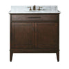 "Avanity MADISON-VS36-TO-C Madison 36"" Vanity w/ Carrera White Marble Top and Sink in Tobacco finish"