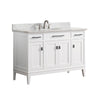 "Avanity MADISON-VS48-WT-C Madison 49"" Vanity Combo in White finish w/ Carrera White Top"