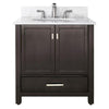 "Avanity MODERO-VS36-ES-C Modero 36"" Vanity w/ Carrera White Marble Top and Sink in Espresso finish"
