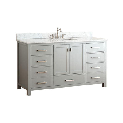 "Avanity MODERO-VS60-CG-A-C Modero 60"" Single Vanity Combo in Chilled Gray finish"
