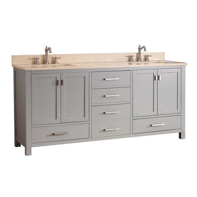 "Avanity MODERO-VS72-CG-B Modero 72"" Double Vanity Combo in Chilled Gray finish"