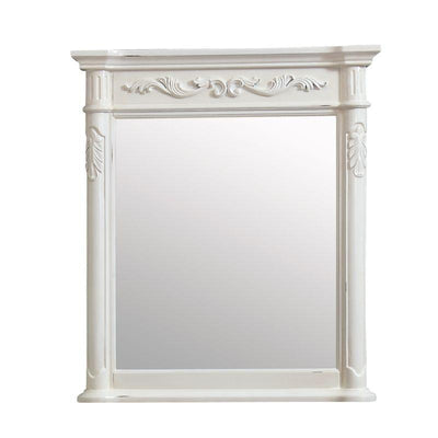 "Avanity PROVENCE-M30-AW Provence 30"" Mirror in Antique White finish"