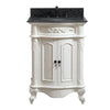 "Avanity PROVENCE-VS25-AW Provence 25"" Vanity in Antique White finish with Impala Black Granite Top"
