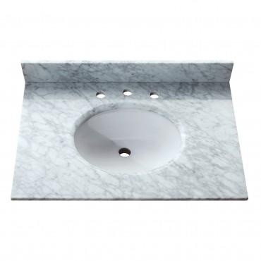 "Avanity SUT31CW Stone Top - 31"" Carrera White Marble"