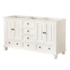"Avanity THOMPSON-V60-FW Thompson 60"" Double Sink Vanity Only in French White finish"